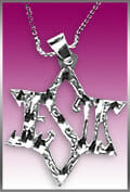NCKL-STR Star of David Jesus Necklace-0