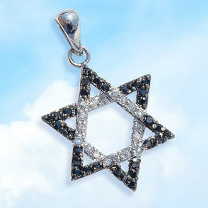 PND-SBWC Pendant-Star of David Set with Crystals-0