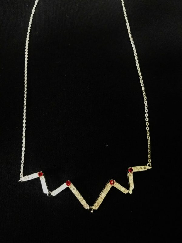 Crystal Cross Necklace-3431