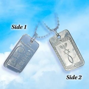 NCKL-TAG Ten Commandments Dog Tag -0