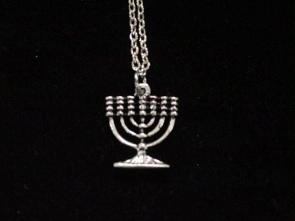 NCKL-MEN Silver Menorah Pendant & Necklace-0