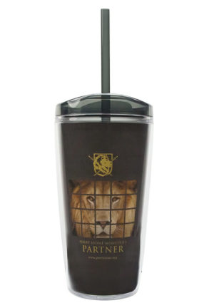 Partner Strike Force Smoke/Black Tumbler Cup with Straw-0