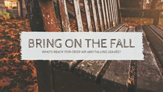 BRING ON THE FALL