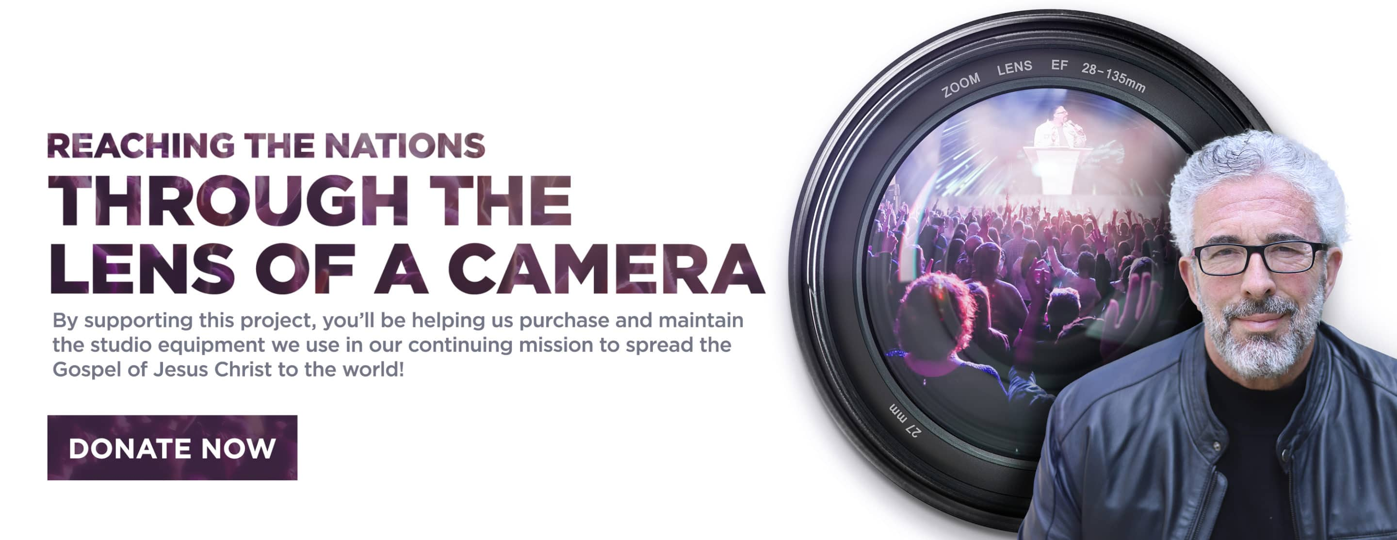 Through the Lens of a Camera – Website Banner
